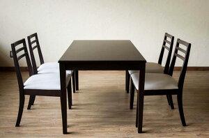 モダンダイニング5点セット(テーブル120+チェア4脚)引出し付きテーブル120幅「ダイニングセットダイニングテーブルチェアいすイス」【き】