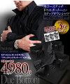 カラーステッチドゥエボットーニスナップダウンシャツ【ハンドステッチ】3枚セットブラック(ネイビー・ワインレッド・シルバーグレーステッチ)