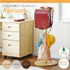 どこにでも置けるランドセルハンガーポール【Apricot】アプリコット「おもちゃ箱収納4段棚収納キッズ子供ラックおもちゃ箱」【あす楽】
