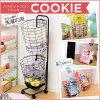 バスケットワゴン【Cookie-クッキー-】ランドリー収納ランドリーバスケットランドリーワゴンに♪