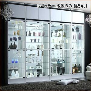 背面ミラー付き壁面コレクション収納 本体 幅54.1    「収納 コレクションケース 壁面収納 コレクションラック ディスプレイケース フィギュアラック フィギュアケース LEDライト」