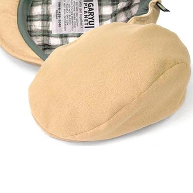 日本製 ハンチング メンズ ハンチング帽 綿100% やわらかダブルガーゼ ハンチング帽子 (砂色) 56cm〜62cm  GARYU PLANET ガリュープラネット メンズ・紳士 男性用 男女兼用 帽子 ハット ぼうし
