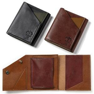 01dd3e285767 三つ折り財布 メンズ コンパクト 日本製 本革 三つ折 財布 メンズ 小銭入れあり ボックス型小銭入れ BOX型コインケース カード3枚 キーケース  小型 薄型 軽量 折財布 ...