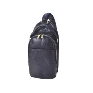 ボディバッグ メンズ バッグ ワンショルダー リュック ディバッグ 肩掛けバッグ ネイビー 本革 牛革 イタリアンレザー イタリー製 イタリア製 通学 通勤 男性 紳士用 鞄 かばん ギフト プレゼント