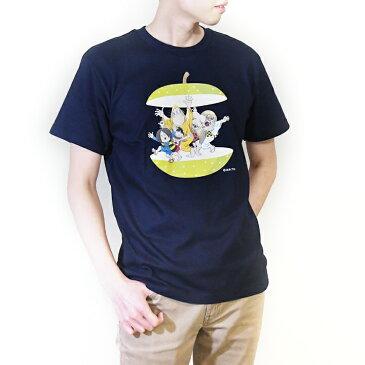 ゲゲゲの鬼太郎コラボ 鳥取シリーズ(二十世紀梨) / 和風Tシャツ フルカラー転写プリント メンズファッション プリントTシャツ 半袖 レディースファッション ワンポイントTシャツ 重ね着 クルーネック ユニセックス