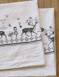 アリスインワンダーランドの様な不思議な世界!まるで手で書いた様な感じの 素敵な鹿のイラスト...