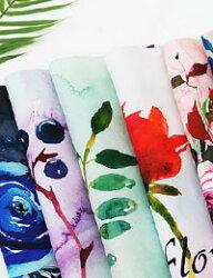 【カットクロス】Water_color_Flower(ウォーターカラーフラワー)