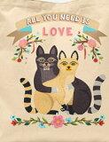 【コットン】I love Cat(16種類イラスト) VH-DTPオックスフォードカットクロス◇再入荷◇