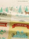 7つのデザインカットクロスとラインパターンが一つに!北欧のぬくもりを感じる松の森のイラスト...