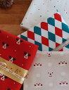 ルドルフ、ハローミスター、ダイヤ、トゥインクルなど4種類のかわいいクリスマスのファブリック...