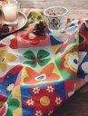 北欧スタイルのビビットカラー!お洒落な花柄がキューブの中に並んでいて使いやすいパッチデザ...
