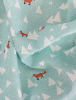 生地 布 【 コットン 】ノルウェーの森の赤いキツネ/ウォッシング オックスフォードコットン【 手作り 手芸 動物柄 キツネ 】