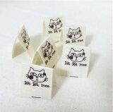 【ラベル】ネコのミーちゃん/挟みタグコットンラベル(6枚)【 商用利用可 】