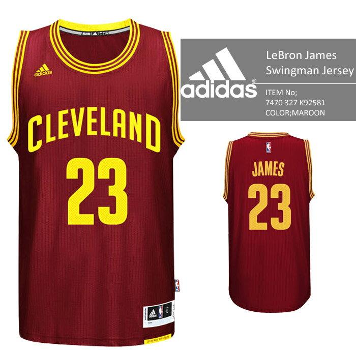 adidas Cleveland Cavaliers NBA LeBron James Swingman Jersey Authentic MAROON バスケ レプリカ ユニフォーム ジャージ ゲームシャツ レブロンジェームス バスケット アディダス オーセンティックジャージー