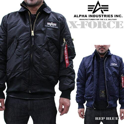 Alpha Industries X-FORCE 2 PIECE JACKET 進化系MA-1 アルファ ミリタリーフライトジャケット 空...