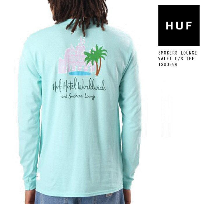 トップス, Tシャツ・カットソー  T T HUF SMOKERS LOUNGE VALET LS TEE TS00554 SB ds-Y