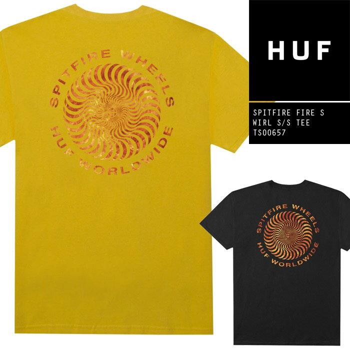 トップス, Tシャツ・カットソー T HUF SPITFIRE FIRE SWIRL SS TEE TS00657 T SB ZRC