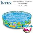 [限定特典][あす楽]INTEX ハッピーアニマルクリアビュープール ME-1701 58474NP HAPPY ANIMALS CLEARVIEW SNAP SET POOL インテックス 空気入れ不要 簡単 ds-Y