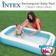 [限定特典][あす楽]INTEX レクタンギュラーベビープール ME-7001 57403NP インテックス 赤ちゃん用 浅いプール ds-Y