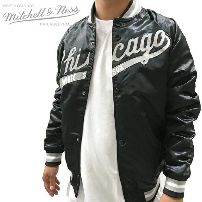 メンズファッション, コート・ジャケット  MITCHELL NESS LIGHTWEIGHT SATIN JACKET Chicago White Sox ZRC
