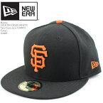 ニューエラ 帽子 キャップ NEWERA ON-FIELD 59FIFTY San Francisco GIANTS GAME オーセンティック サンフランシスコジャイアンツ MLB メジャーリーグ ベースボール▲[ブラック][オレンジ][ZRC]