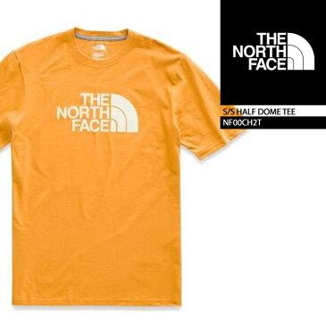 ノースフェイス Tシャツ THE NORTH FACE S/S HALF DOME TEE CITRNYLW VNTGWT(9LG) NF00CH2T ボックスロゴT 半袖Tシャツ 街着 キャンプ 大きいサイズ▲[イエロー]