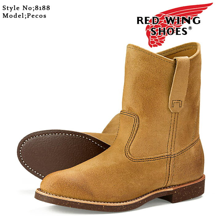 ブーツ, ワーク  RED WING PECOS 8188 Hawthorne Muleskinner Width:E ds-Y