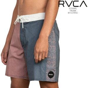 [送料無料]ルーカ 海パン サーフパンツ RVCA SCRAWL TRUNK M153TRSC メンズ 水着 ボードショーツ▲[グレー][ピンク]ds-Y