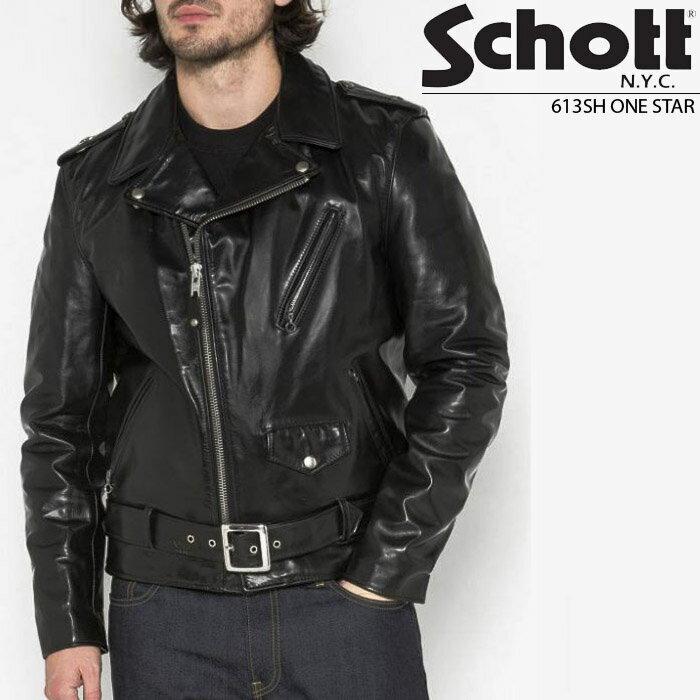 メンズファッション, コート・ジャケット  Schott LEATHER MOTORCYCLE JACKET 613SH ZRC