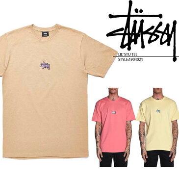 ステューシー Tシャツ STUSSY LIL' STU TEE 1904021 刺繍 半袖 ストリート サーフ スケートボード サーフィンメンズ 男性 ▲[イエロー][ベージュ][ピンク]ds-Y