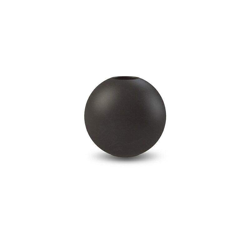 Cooee Design 花瓶 ボール フラワーベース 8cm ブラック 黒 おしゃれ 陶器 一輪挿し 北欧 モダン nest クーイー クーイーデザイン スウェーデン
