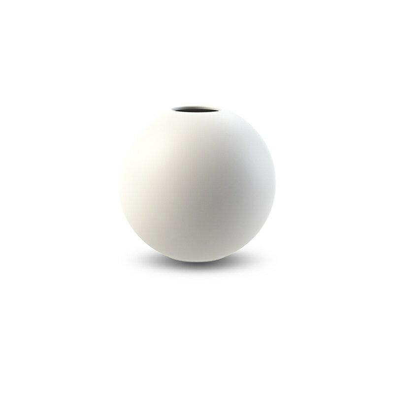 Cooee Design 花瓶 ボール フラワーベース 10cm 白 ホワイト おしゃれ 陶器 一輪挿し 北欧 モダン nest クーイー クーイーデザイン スウェーデン
