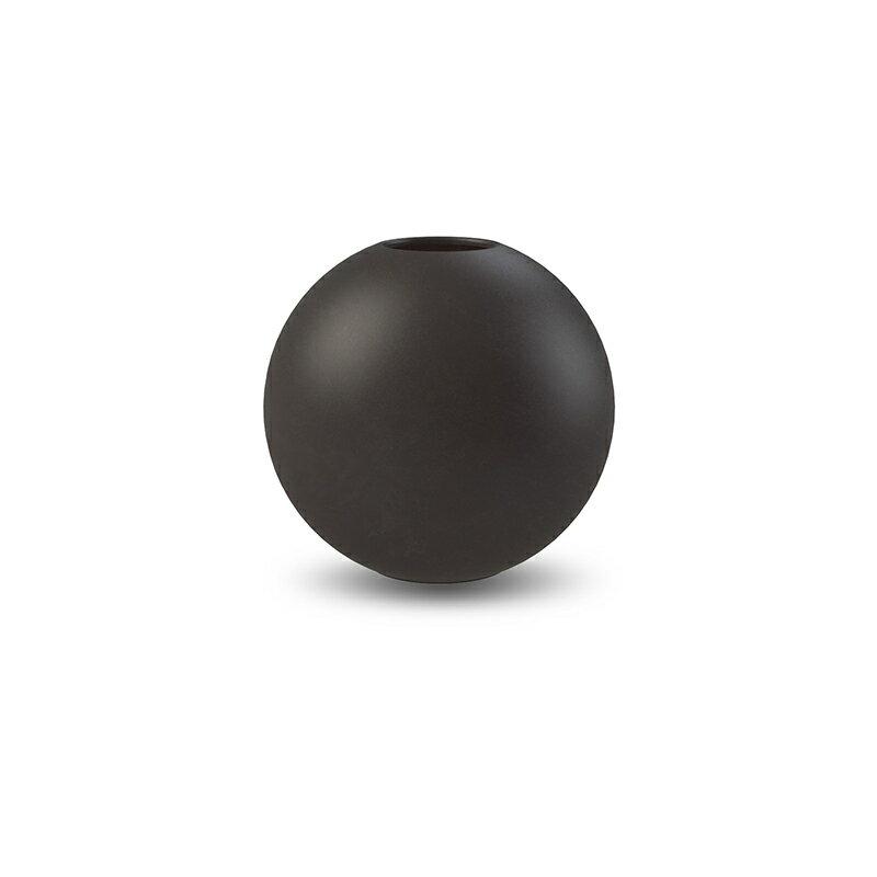 Cooee Design 花瓶 ボール フラワーベース 10cm ブラック 黒 おしゃれ 陶器 一輪挿し 北欧 モダン nest クーイー クーイーデザイン スウェーデン