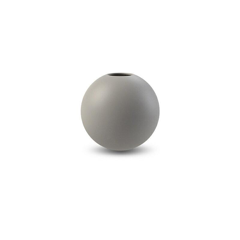 Cooee Design 花瓶 ボール フラワーベース 8cm グレー おしゃれ 陶器 一輪挿し 北欧 モダン nest クーイー クーイーデザイン スウェーデン
