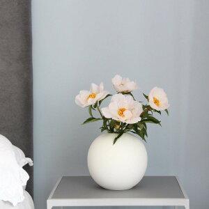 Cooee Design 花瓶 ボール フラワーベース 20cm 白 ホワイト おしゃれ 陶器 大型 大きい 北欧 モダン nest クーイー クーイーデザイン スウェーデン