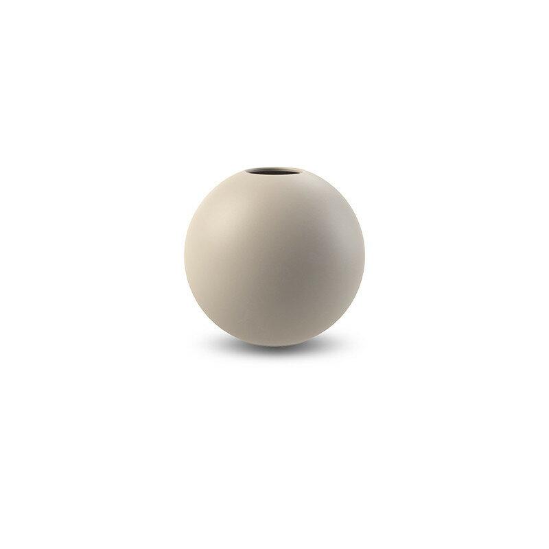 Cooee Design 花瓶 ボール フラワーベース 8cm サンド ベージュ おしゃれ 陶器 一輪挿し 北欧 モダン nest クーイー クーイーデザイン スウェーデン