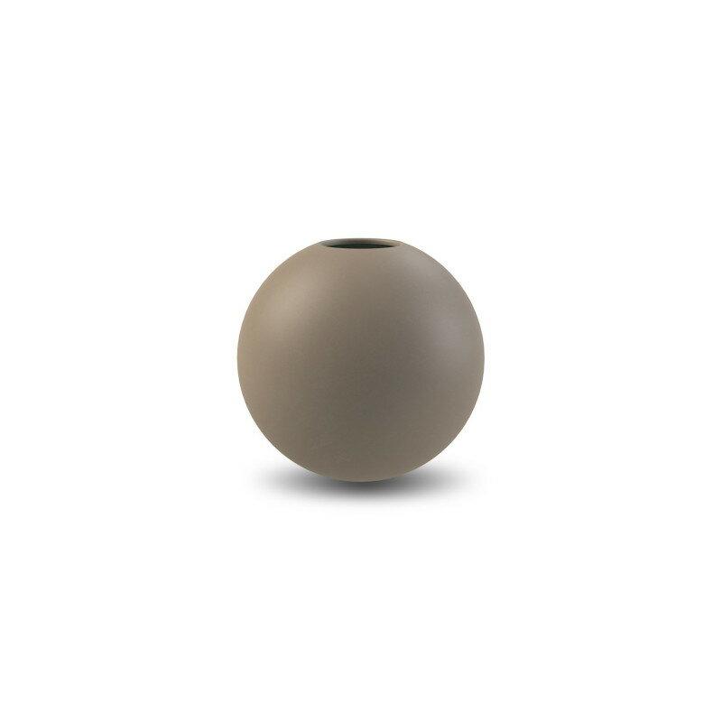 Cooee Design 花瓶 ボール フラワーベース 10cm マッド ブラウン おしゃれ 陶器 一輪挿し 北欧 モダン nest クーイー クーイーデザイン スウェーデン