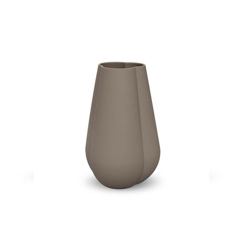 Cooee Design 花瓶 クローバー フラワーベース マッドブラウン 18cm おしゃれ 陶器 北欧 モダン nest クーイー クーイーデザイン スウェーデン