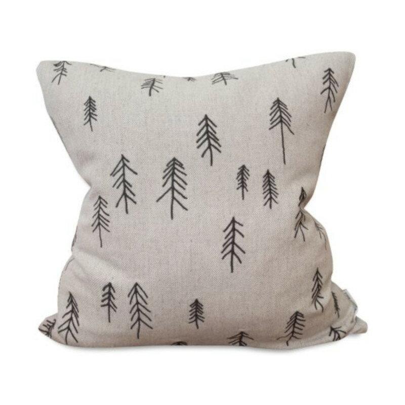 Fine Little Day TALL 刺繍 クッションカバー 麻70% 針葉樹 ファインリトルデイ 北欧 スウェーデン【メール便OK】