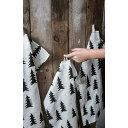 Fine Little Day モミの木柄 キッチンクロス ブラック&ホワイト ファインリトルデイ 北欧 スウェーデン【メール便OK】
