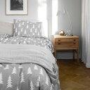 Fine Little Day 掛け布団カバー 枕カバー ベッドリネン セット モミの木柄 グレー ファインリトルデイ 北欧 スウェーデン
