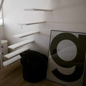 ビッグアルファベットポスター モノクロ プレイタイプ デンマーク