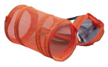 ●わけあり品●★好評発売中!★折りたたみ式コンパクト虫かごコロン・オレンジ 収納袋付