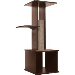 壁ぎわにスッキリとフィットネココ スリムで壁ぎわに置きやすい キャットリビングタワー(1台)[...