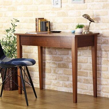 木製デスク・アメリ、幅90cm、奥行45cm