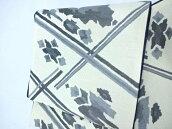 袋帯 紬織り 格子取り文様 未仕立て【リサイクル】【中古】