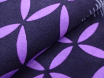 変わり織 横段に古典柄模様浴衣(フリーサイズ)(グレー)【新品】