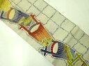 九寸名古屋帯 金駒刺繍 手桶文様 リメイク【アンティーク】【中古】