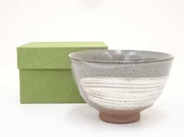 京焼 林宝造 刷毛目茶碗