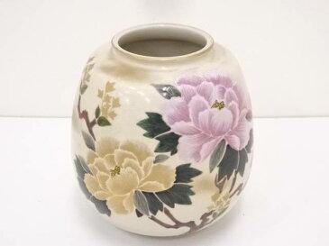 九谷焼 怒泉造 色絵牡丹花瓶【1819OFF】【バーゲン】